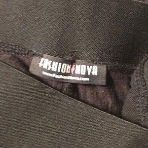34030959432de6 Fashion Nova Pants - Fashion Nova Black Leggings Ties on Side Size S